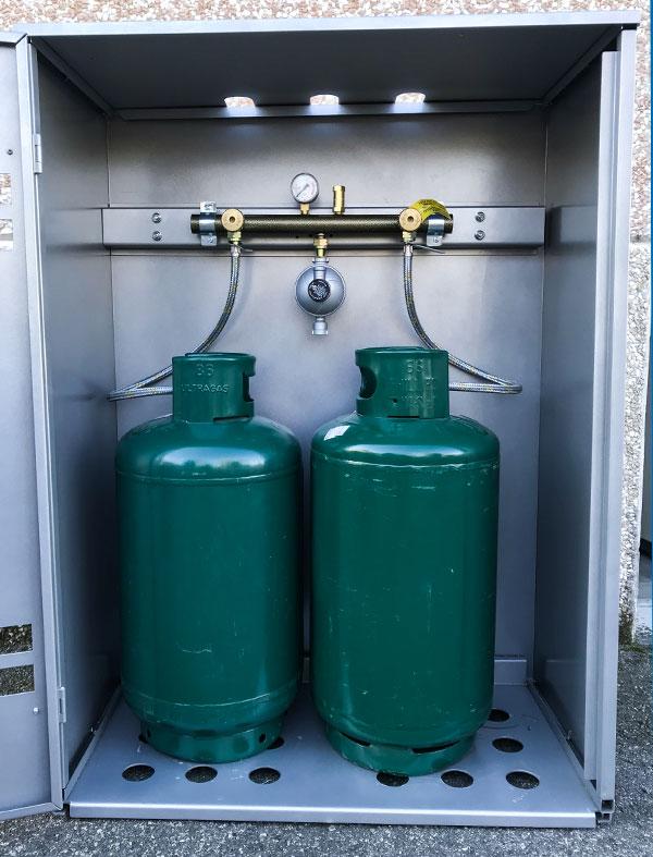 Armadio contenitore sicurezza bombole gpl - Bombole gas per cucina ...